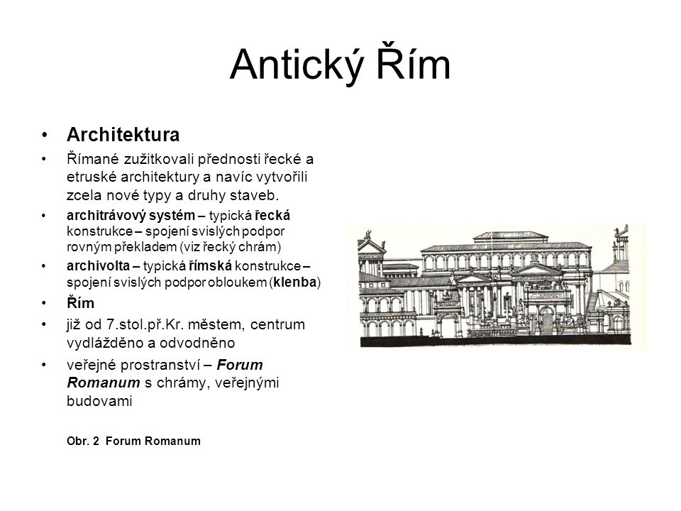 Antický Řím Architektura