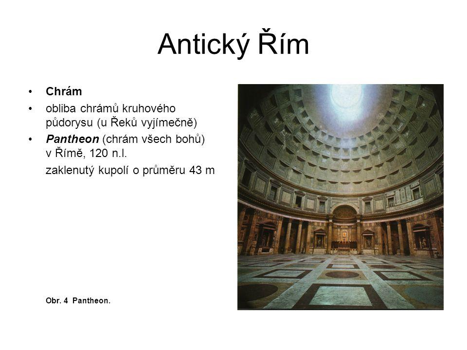 Antický Řím Chrám obliba chrámů kruhového půdorysu (u Řeků vyjímečně)