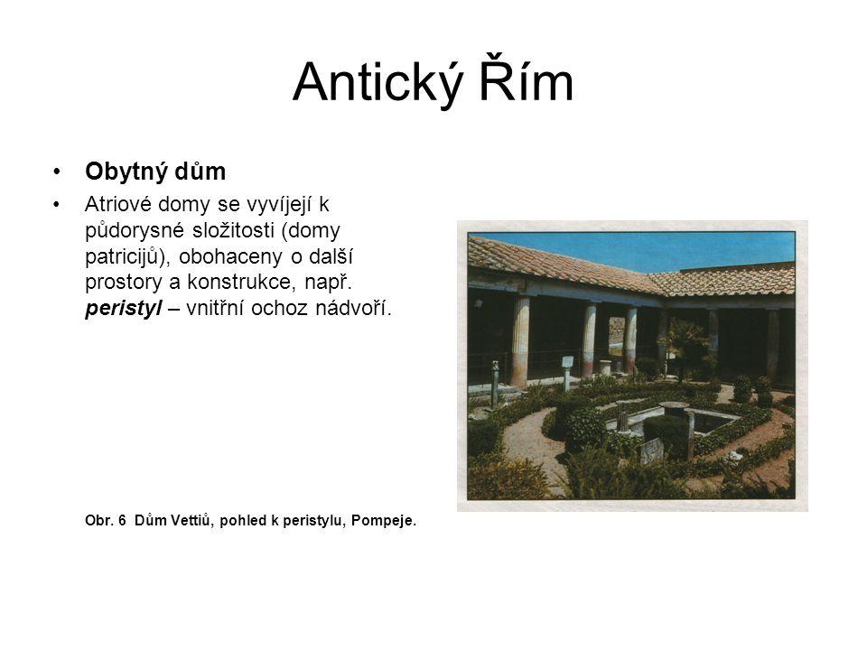 Antický Řím Obytný dům.