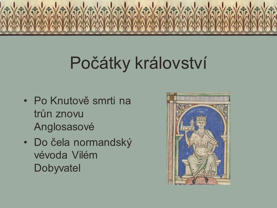 Počátky království Po Knutově smrti na trůn znovu Anglosasové