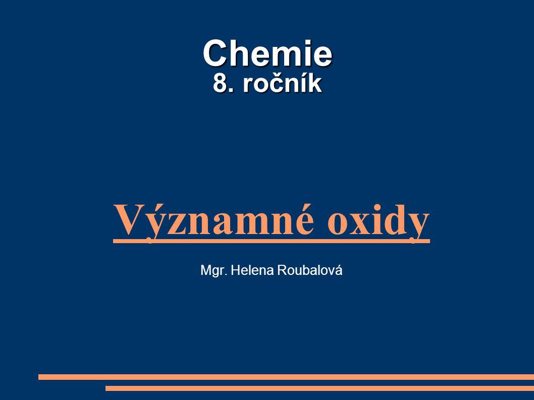 Významné oxidy Mgr. Helena Roubalová