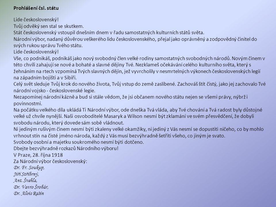 Prohlášení čsl. státu Lide československý!