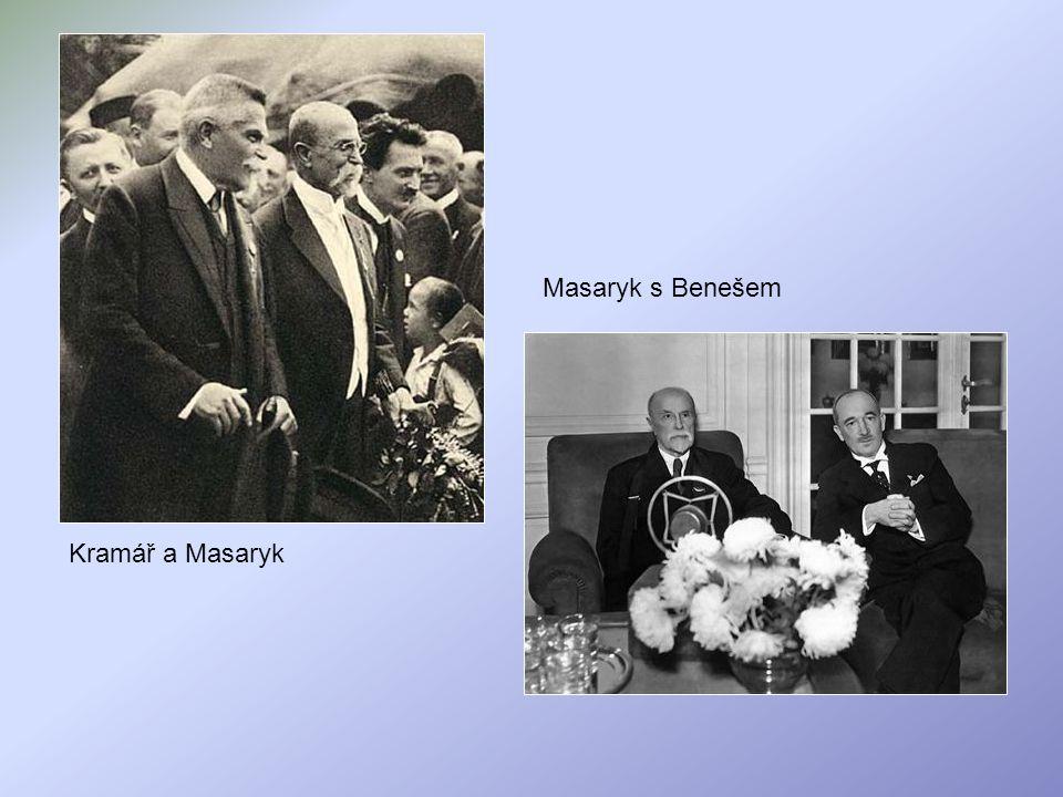 Masaryk s Benešem Kramář a Masaryk