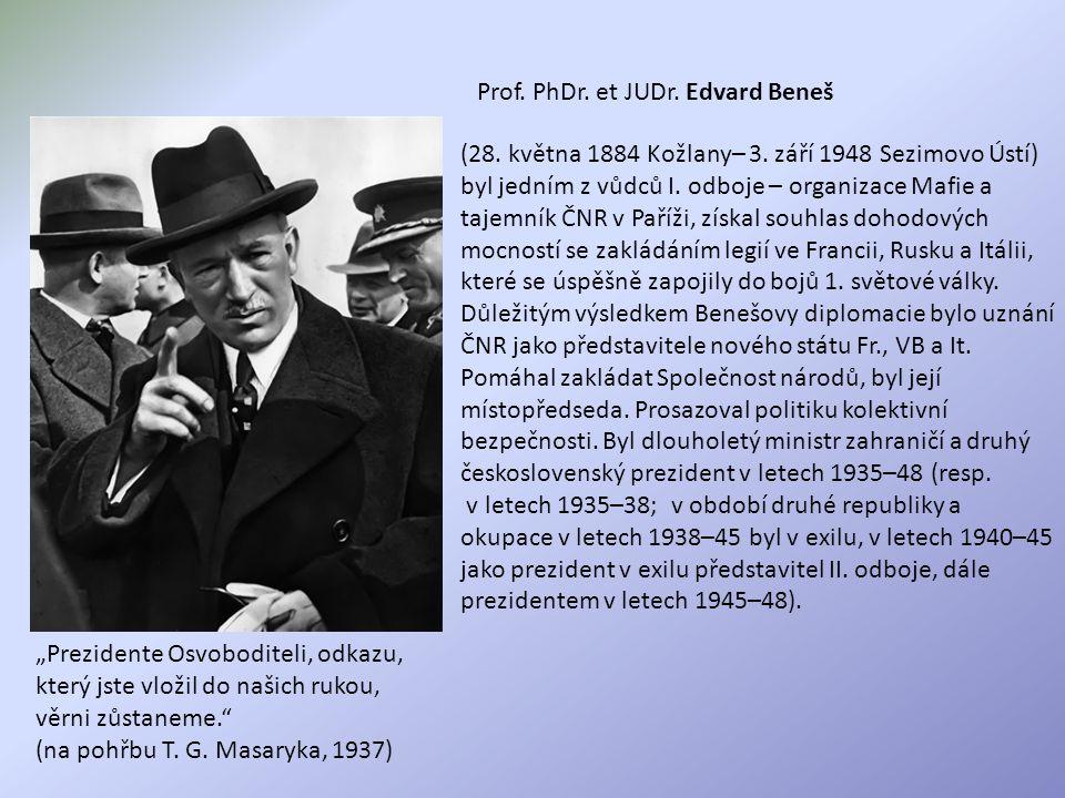 Prof. PhDr. et JUDr. Edvard Beneš