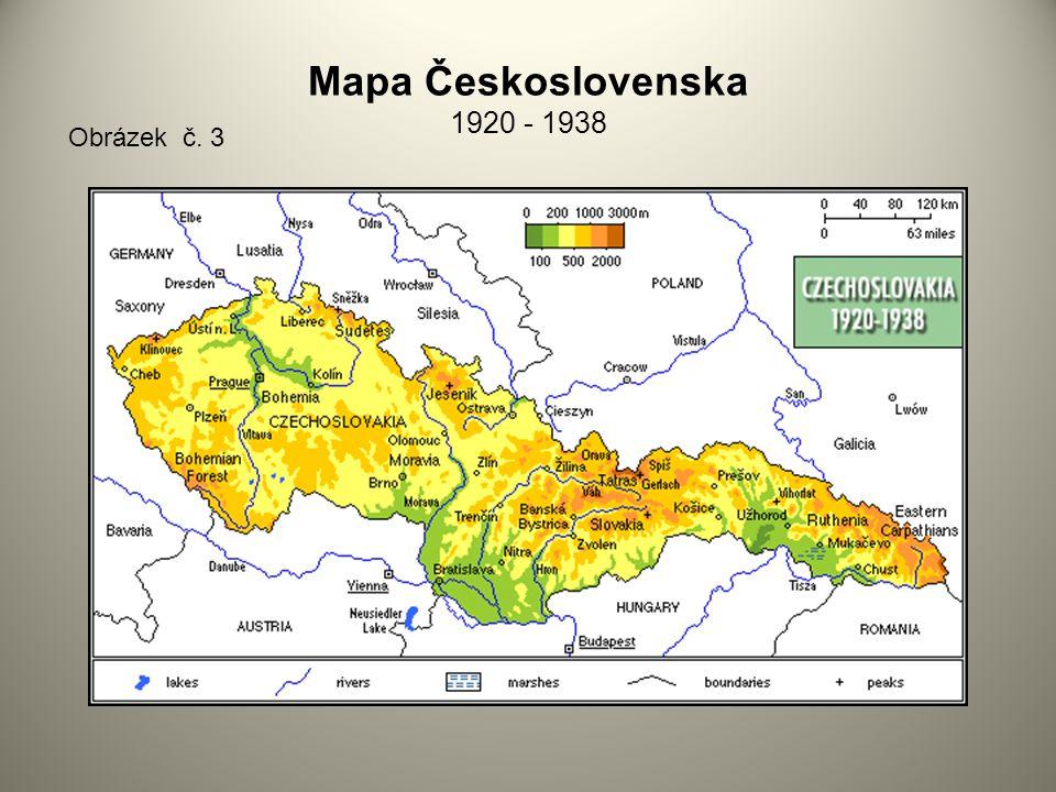 Mapa Československa 1920 - 1938 Obrázek č. 3