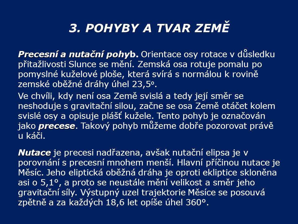 3. POHYBY A TVAR ZEMĚ