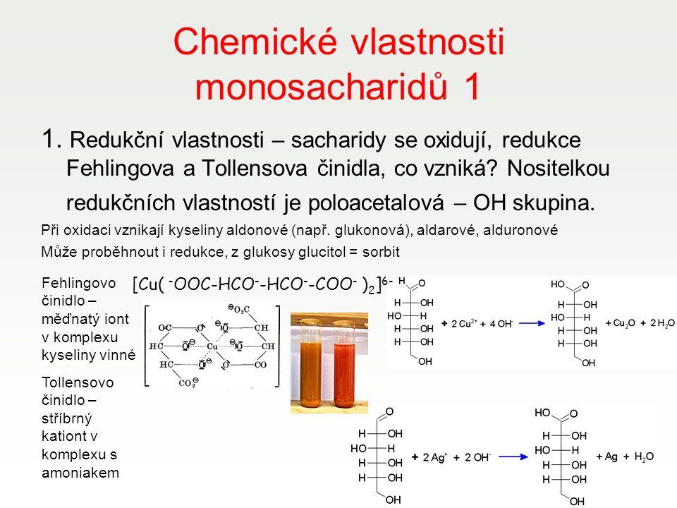 Chemické vlastnosti monosacharidů 1