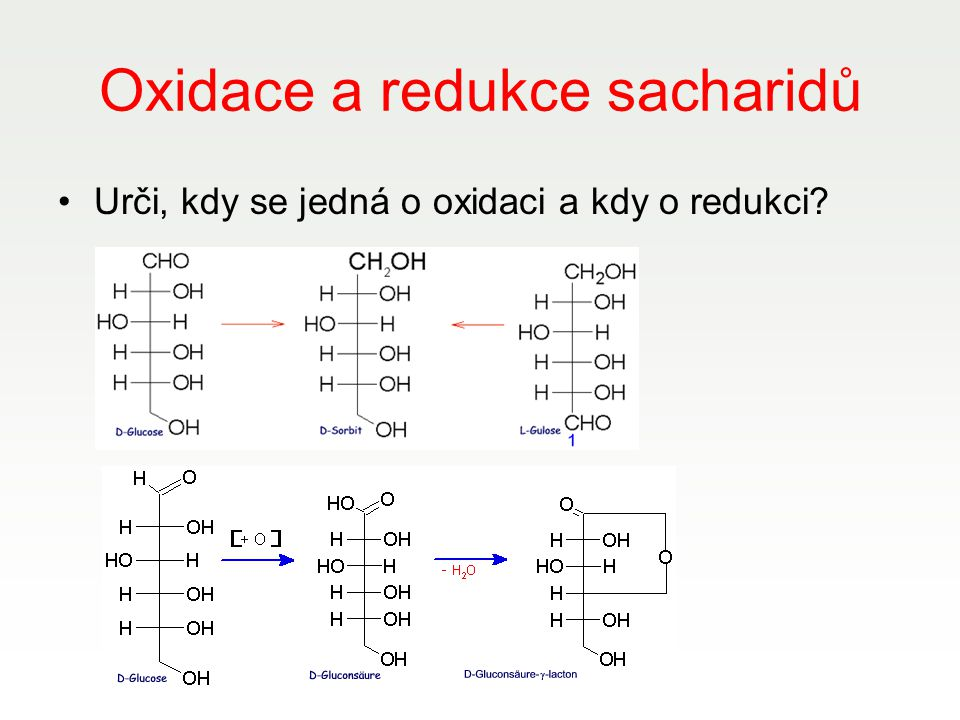 Oxidace a redukce sacharidů