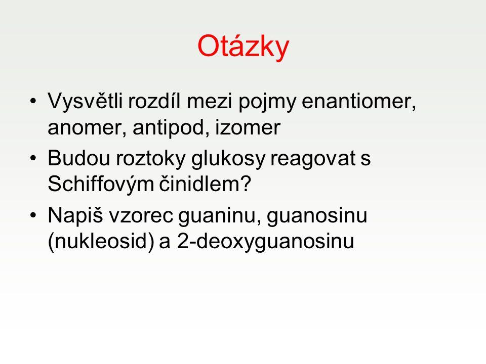 Otázky Vysvětli rozdíl mezi pojmy enantiomer, anomer, antipod, izomer
