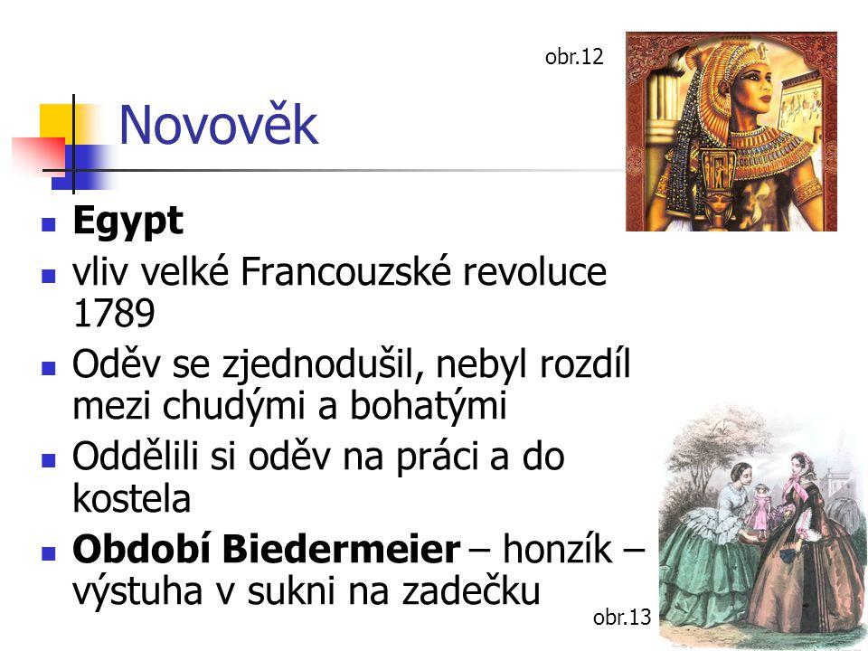 Novověk Egypt vliv velké Francouzské revoluce 1789