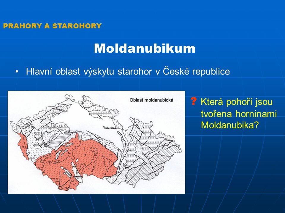 Moldanubikum Která pohoří jsou tvořena horninami Moldanubika