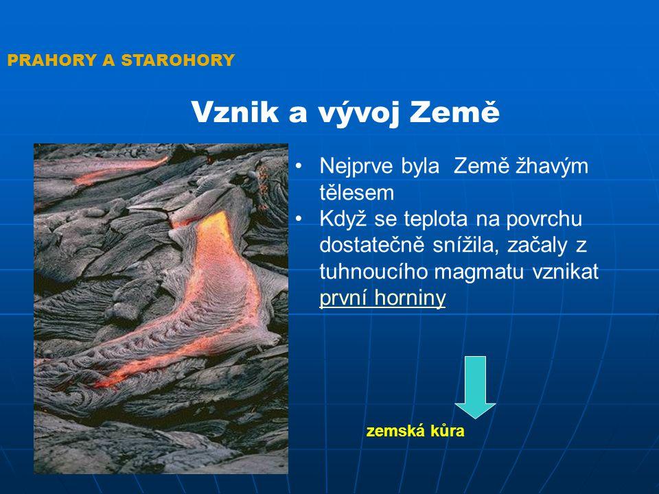 Vznik a vývoj Země Nejprve byla Země žhavým tělesem