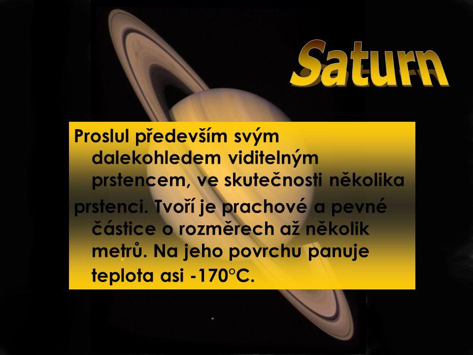 Saturn Proslul především svým dalekohledem viditelným prstencem, ve skutečnosti několika.