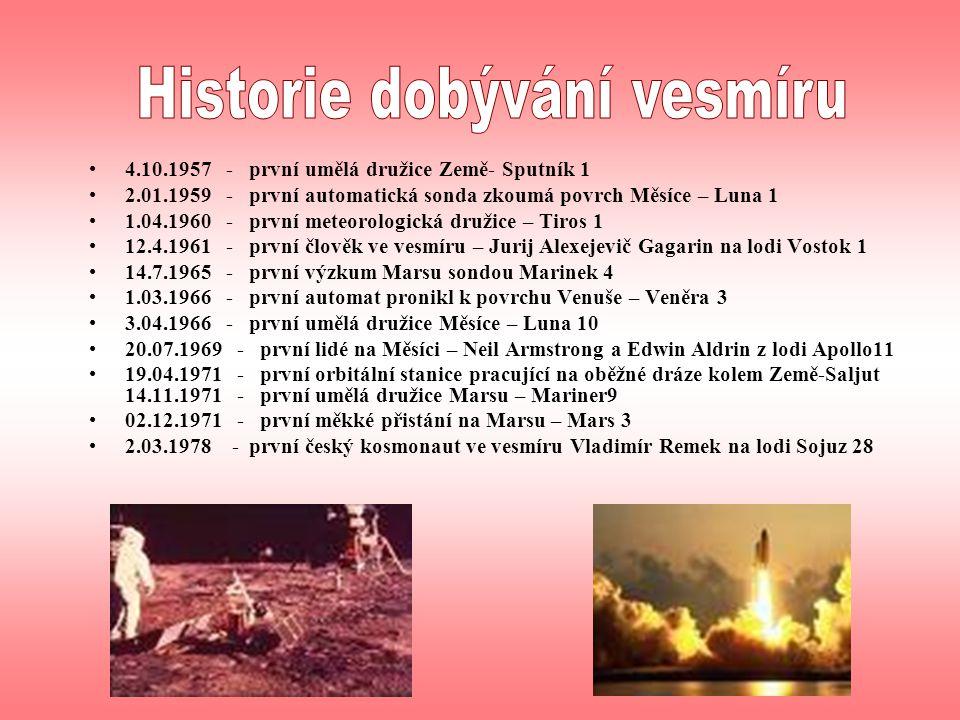 Historie dobývání vesmíru