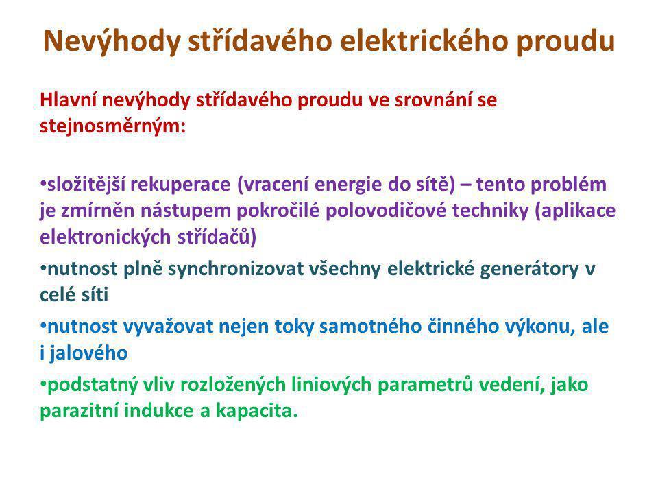 Nevýhody střídavého elektrického proudu