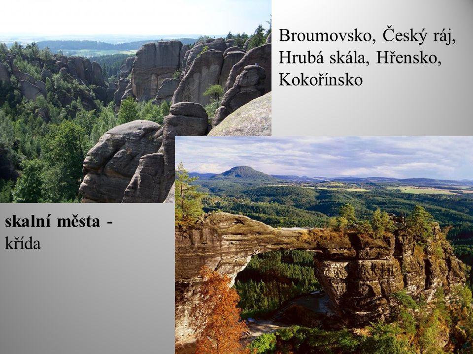 Broumovsko, Český ráj, Hrubá skála, Hřensko, Kokořínsko
