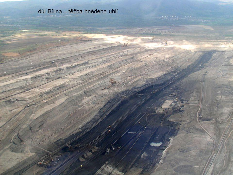 důl Bílina – těžba hnědého uhlí