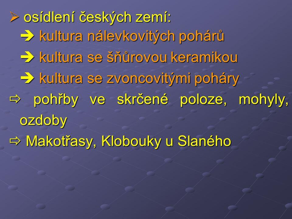 osídlení českých zemí: