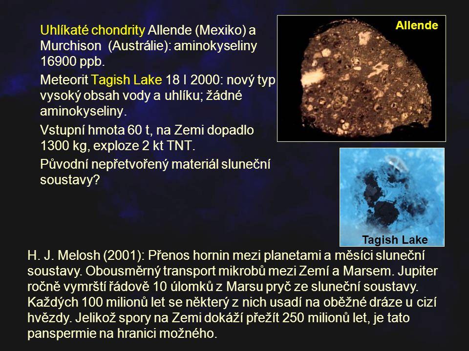 Vstupní hmota 60 t, na Zemi dopadlo 1300 kg, exploze 2 kt TNT.