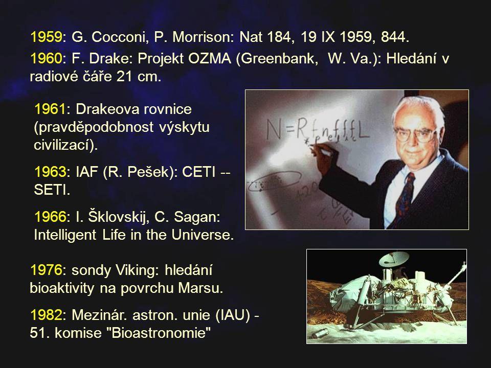 1959: G. Cocconi, P. Morrison: Nat 184, 19 IX 1959, 844.