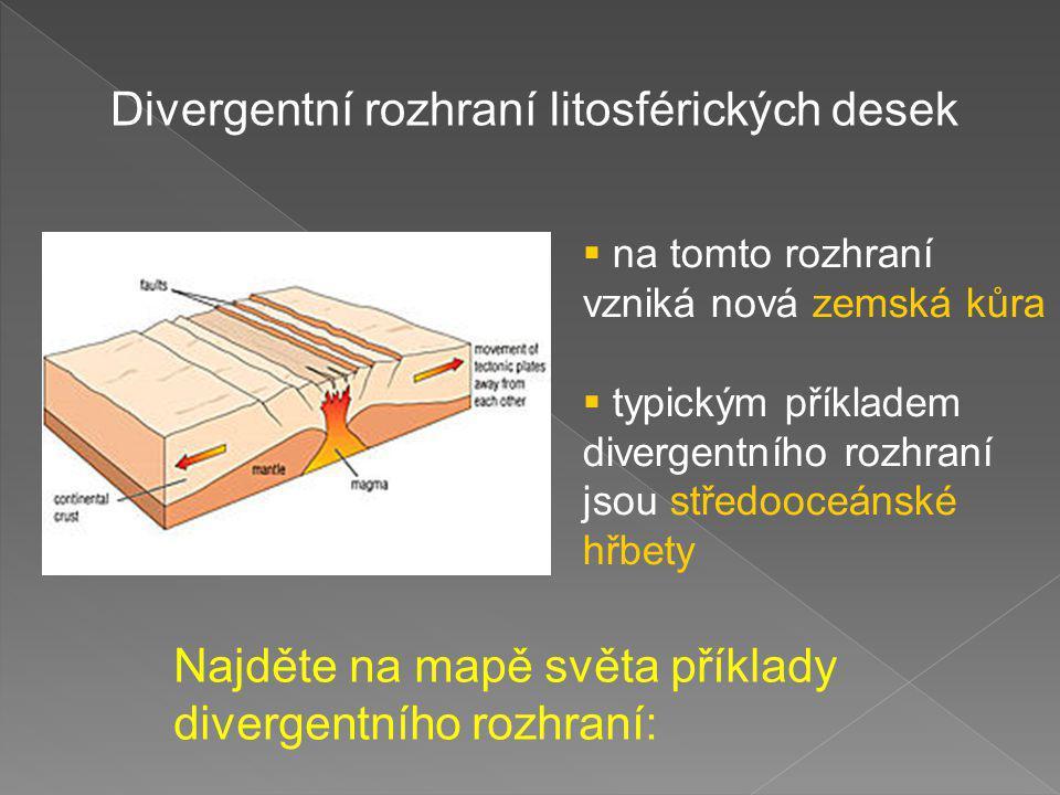 Divergentní rozhraní litosférických desek