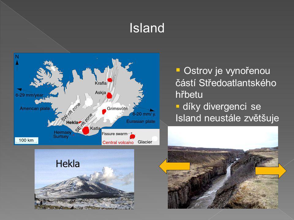 Island Ostrov je vynořenou částí Středoatlantského hřbetu