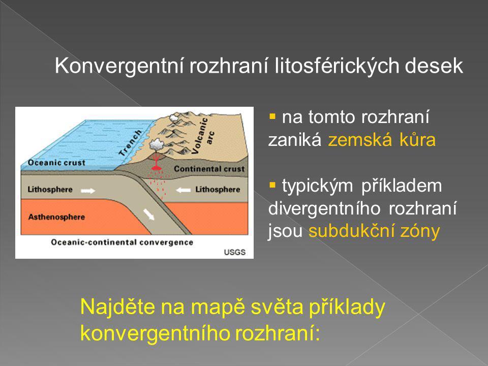 Konvergentní rozhraní litosférických desek