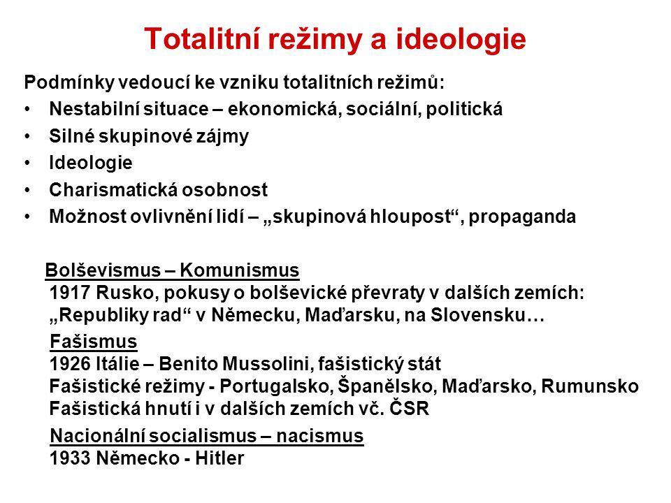Totalitní režimy a ideologie