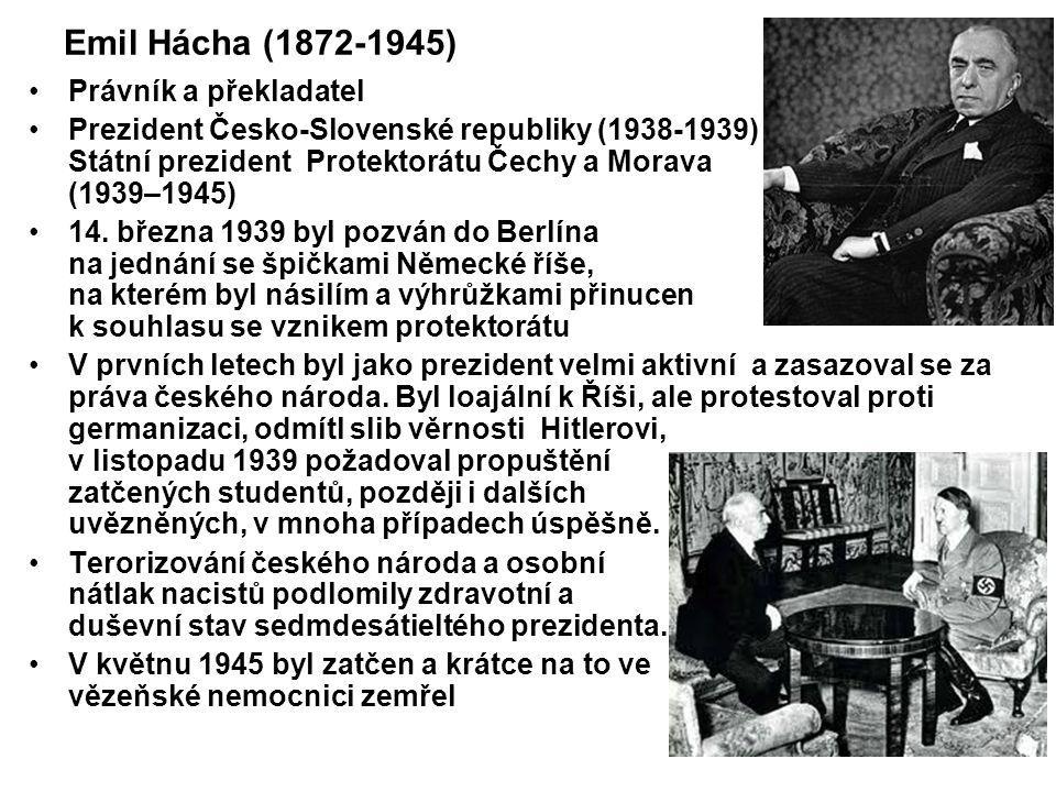 Emil Hácha (1872-1945) Právník a překladatel