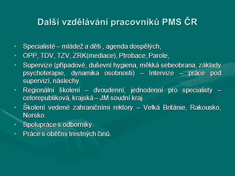 Další vzdělávání pracovníků PMS ČR