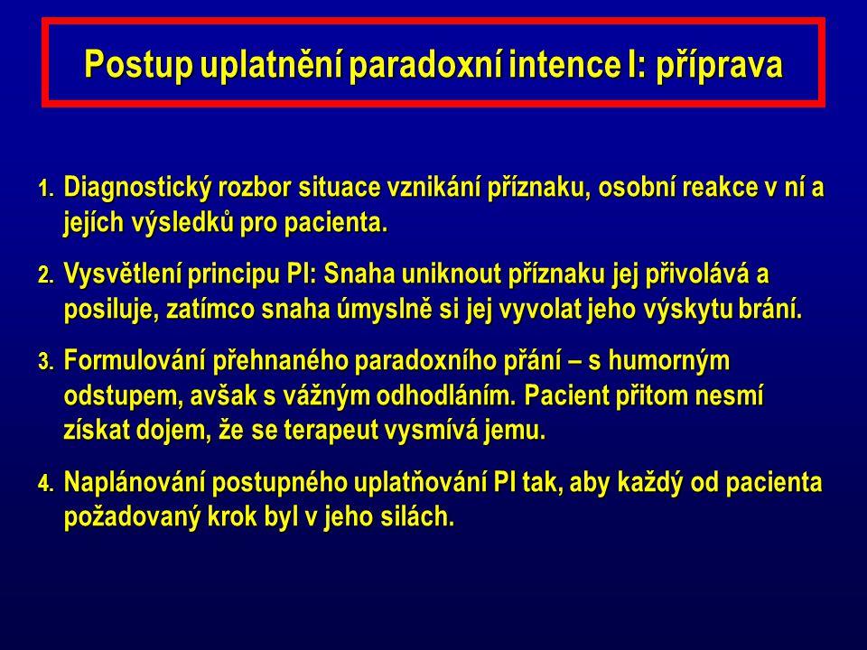 Postup uplatnění paradoxní intence I: příprava