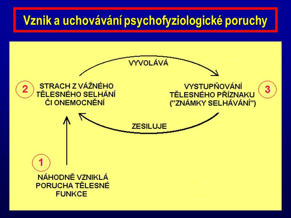 Vznik a uchovávání psychofyziologické poruchy