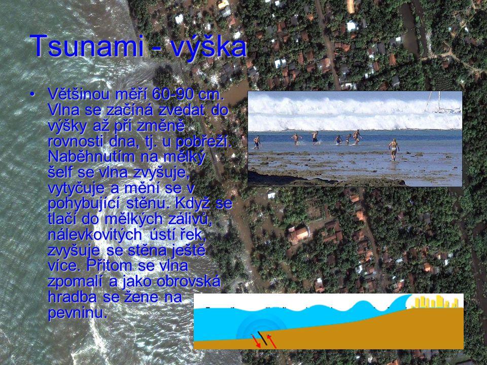 Tsunami - výška