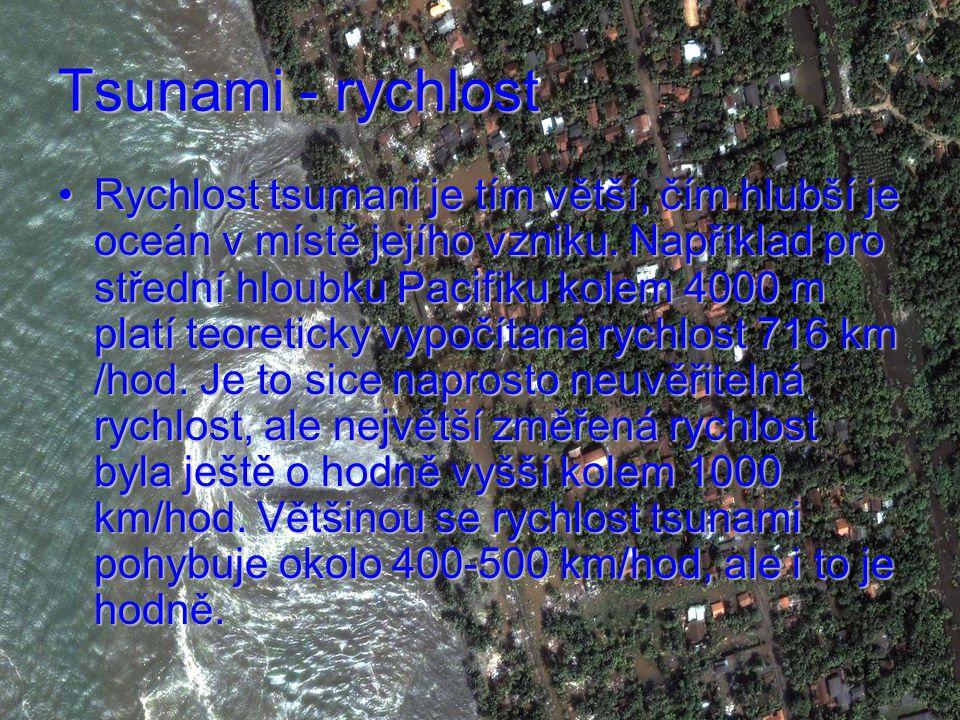 Tsunami - rychlost