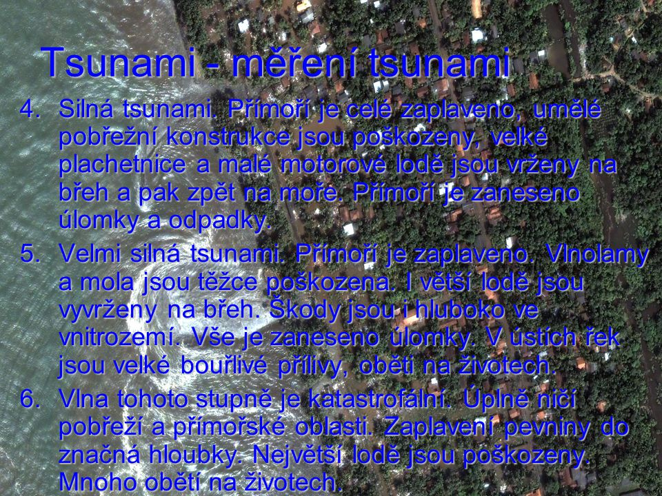 Tsunami - měření tsunami