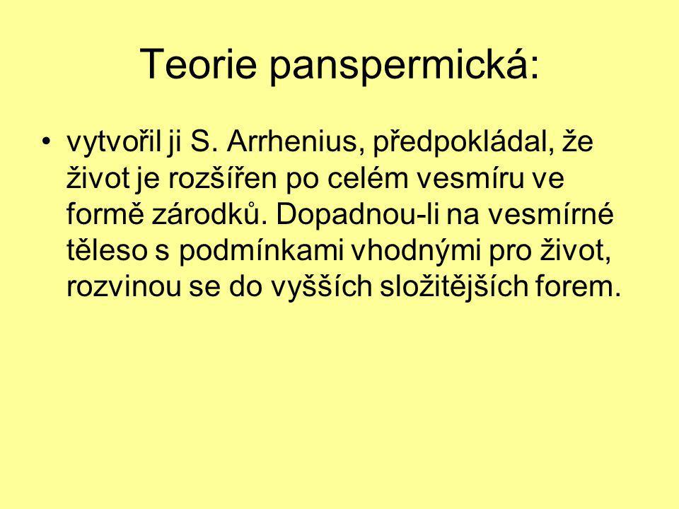 Teorie panspermická: