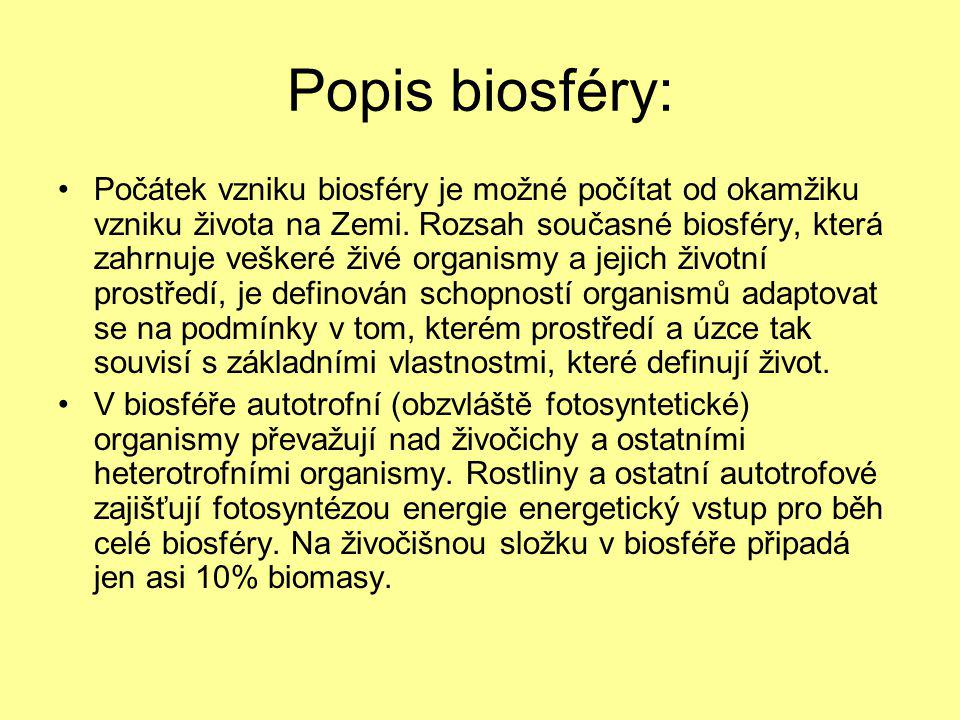 Popis biosféry: