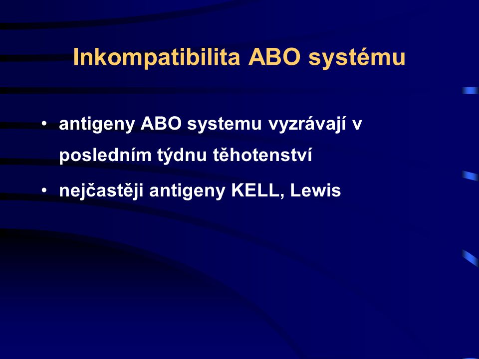 Inkompatibilita ABO systému