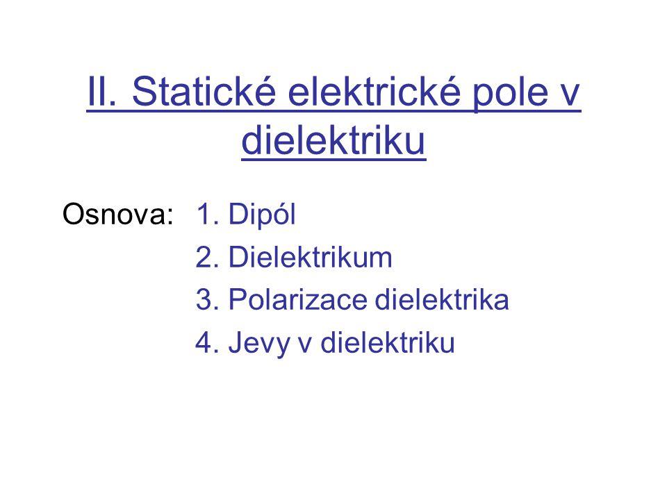 II. Statické elektrické pole v dielektriku