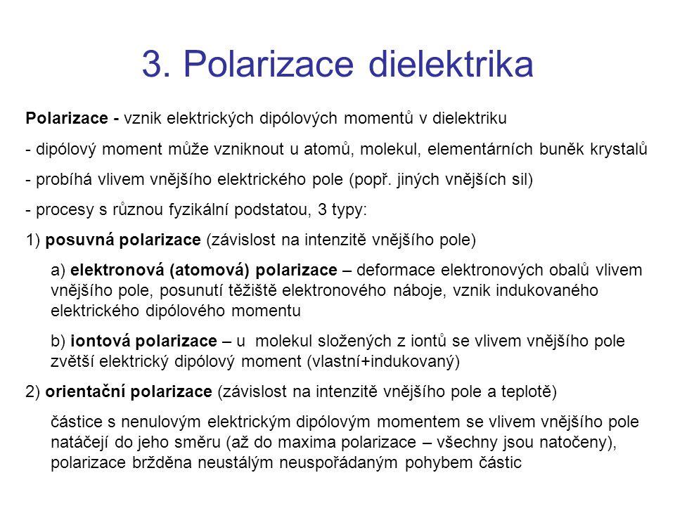 3. Polarizace dielektrika