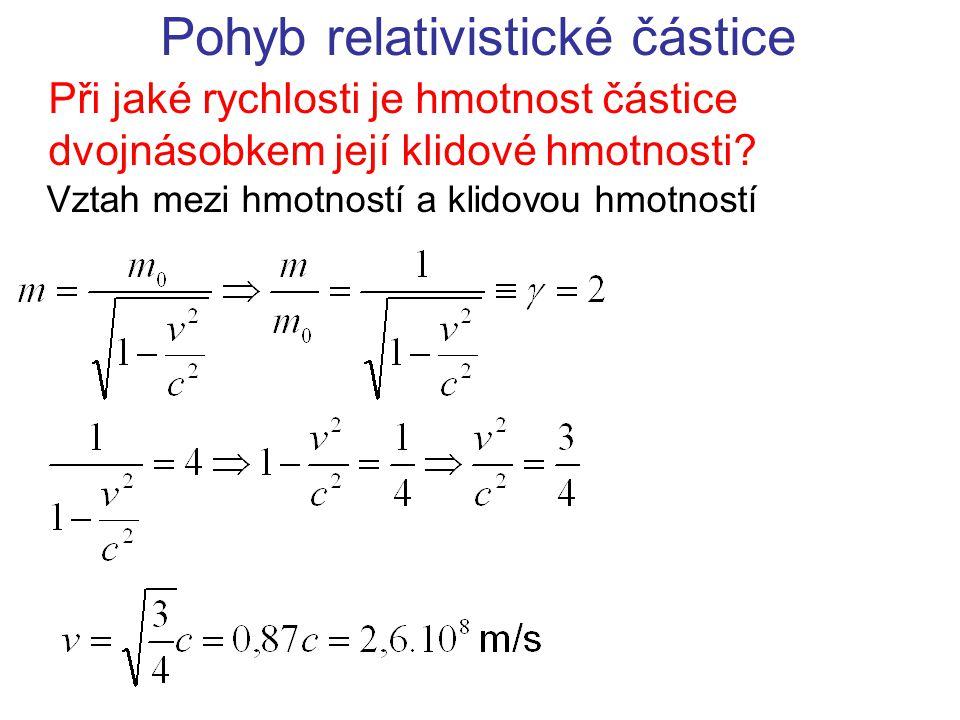 Pohyb relativistické částice