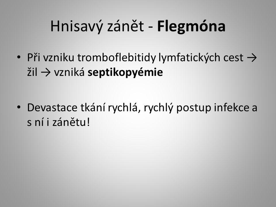 Hnisavý zánět - Flegmóna