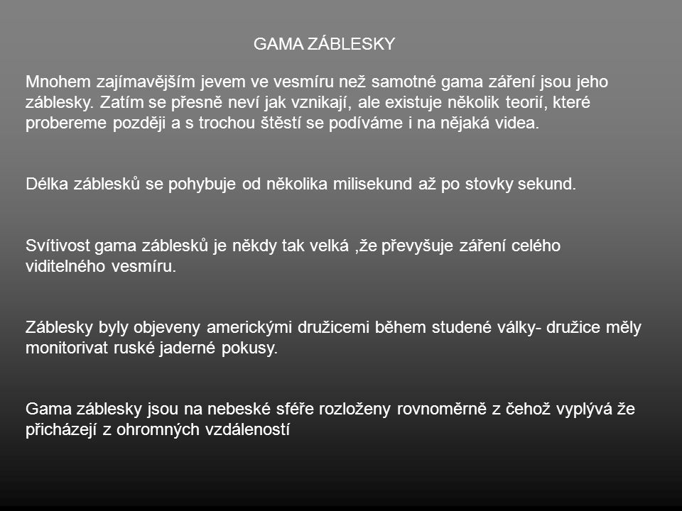 GAMA ZÁBLESKY
