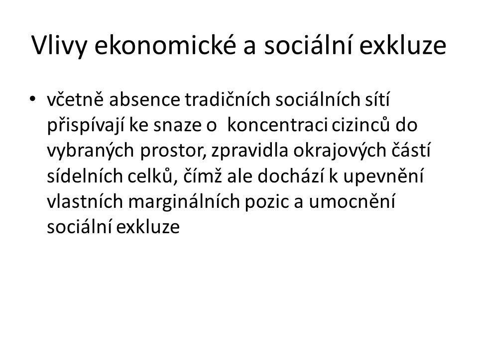 Vlivy ekonomické a sociální exkluze