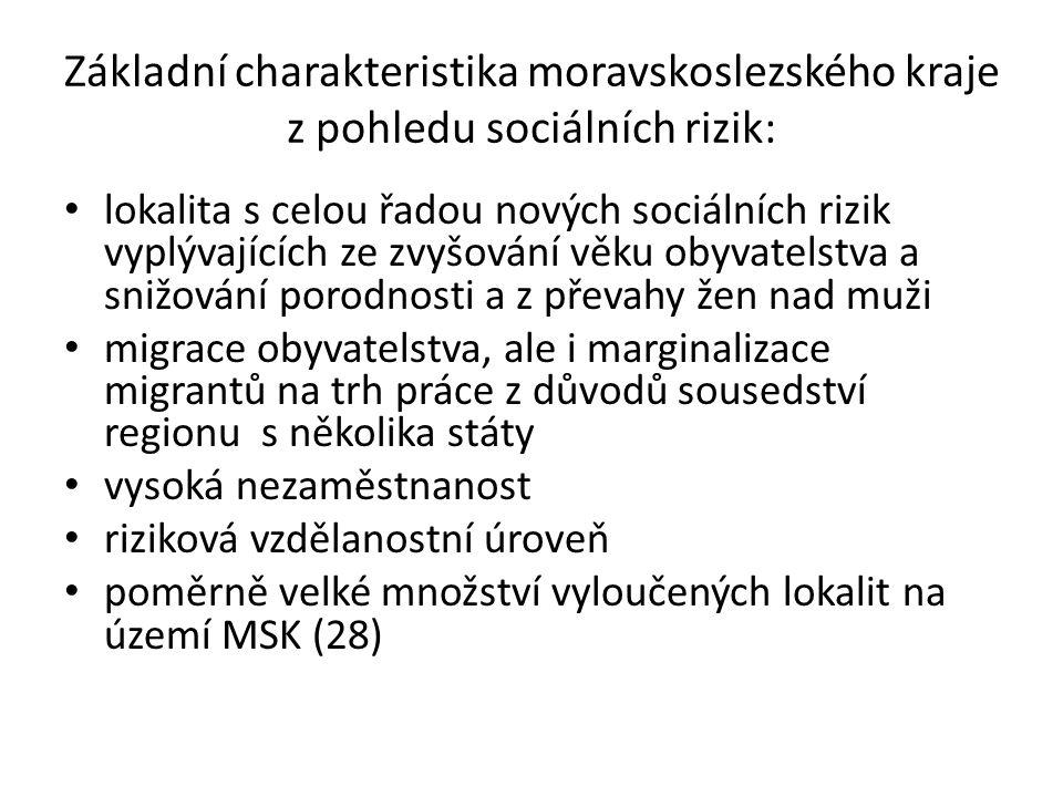 Základní charakteristika moravskoslezského kraje z pohledu sociálních rizik: