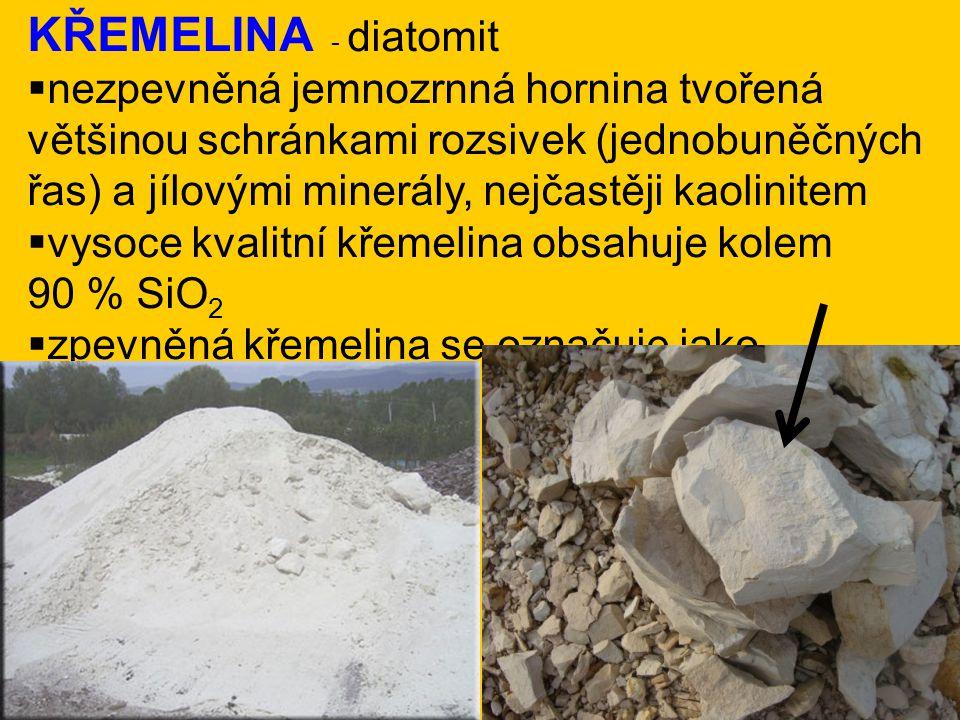 KŘEMELINA - diatomit