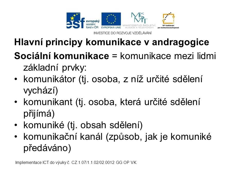 Hlavní principy komunikace v andragogice