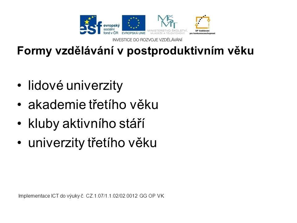 univerzity třetího věku