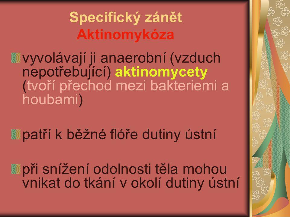 Specifický zánět Aktinomykóza