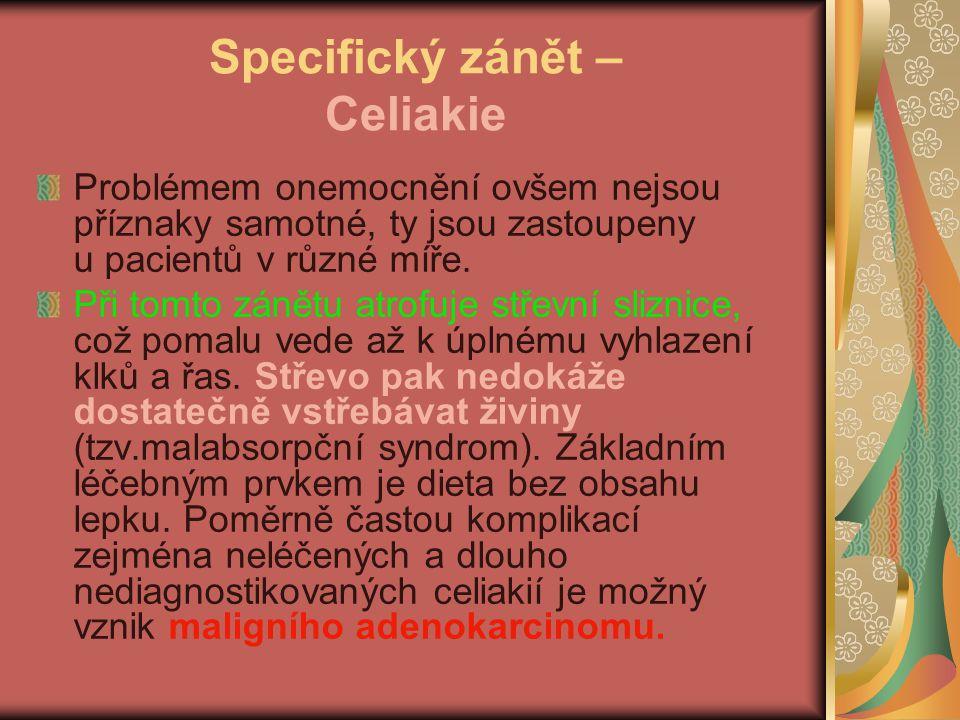 Specifický zánět – Celiakie